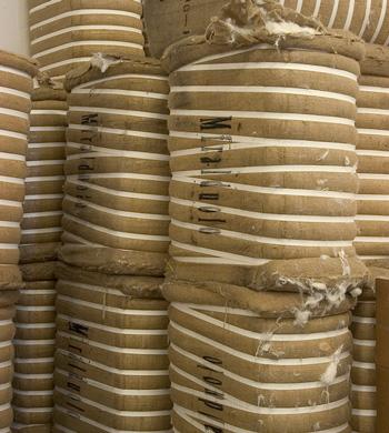 Balle di fibra pronte a essere lavorata nei nostri stabilimenti