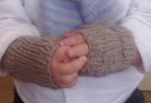 I guantini senza dita sono in morbidissimo SoCashmere