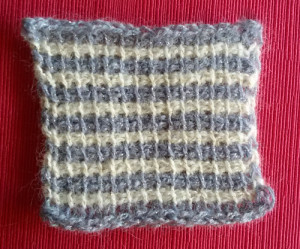Bicolor afghan crochet