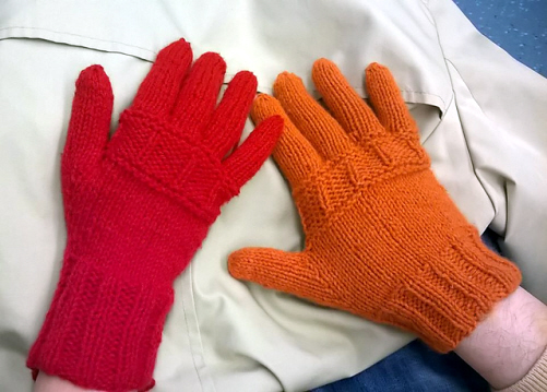 Coraline for woman (red) and for man (orange)