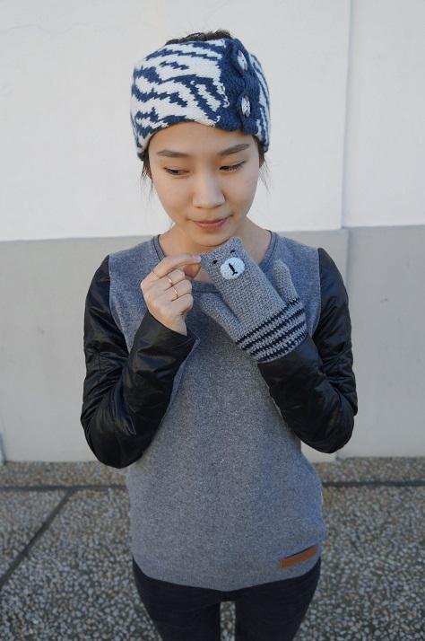 Lolo Wang's knitted hairband