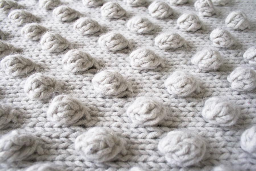 Knitting Pattern For Bobble Blanket : Falling Bobbles blaket by Purl Soho Lanecardate - Handknitting